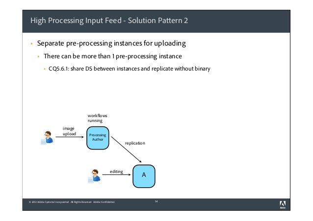 High Processing Input Feed - Solution Pattern 2 §  Separate pre-processing instances for uploading §  There can be more ...