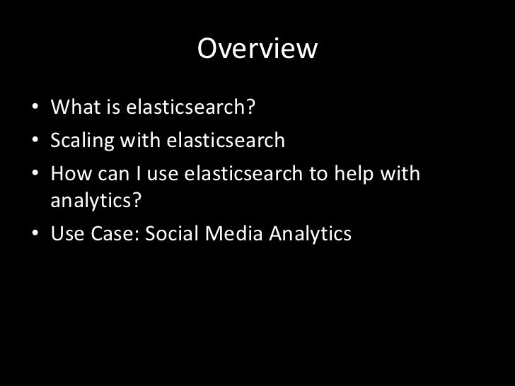 Scaling Analytics with elasticsearch Slide 3