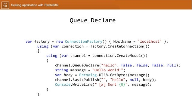 Scaling application with RabbitMQ