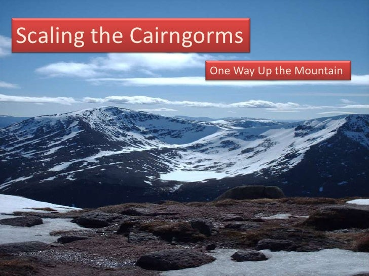 Scaling the Cairngorms<br />One Way Up the Mountain<br />Test-Driven Flex and ArcGIS Server Development Utilizing Cairngor...