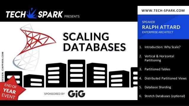 1. Introduction: Why Scale? 2. Vertical & Horizontal Partitioning 3. Partitioned Tables 4. Distributed Partitioned Views 5...