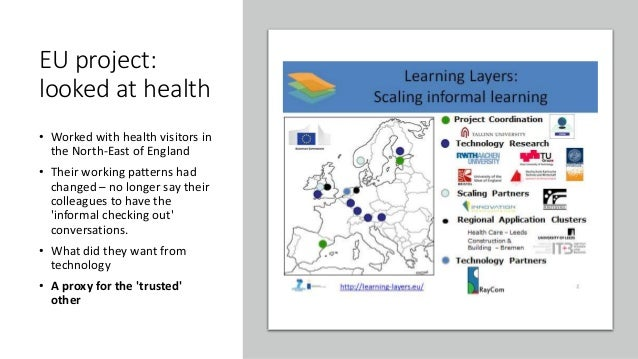 EU project: looked at health • Worked with health visitors in the North-East of England • Their working patterns had chang...