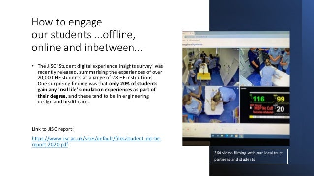How to engage our students ...offline, online and inbetween... • The JISC 'Student digital experience insights survey' was...