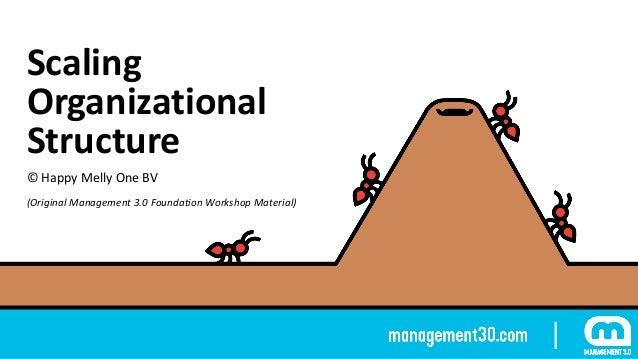 Scaling Organizational Structure ©HappyMellyOneBV (OriginalManagement3.0FoundationWorkshopMaterial)
