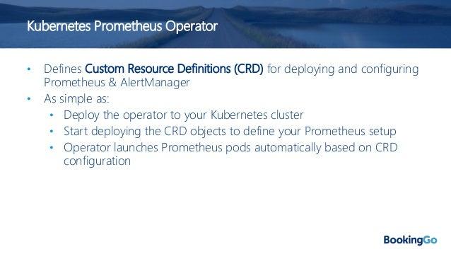 Kubernetes Prometheus Operator Deploy Prometheus bit.ly/2R7ohn8