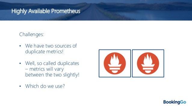 Highly Available Prometheus Targets Targets Targets Use a Load Balancer Load Balancer