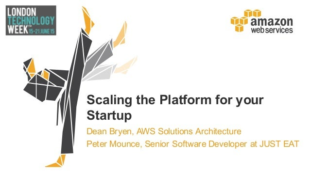 Scaling the Platform for your  Startup Dean Bryen, AWS Solutions Architecture Peter Mounce, Senior Software D...
