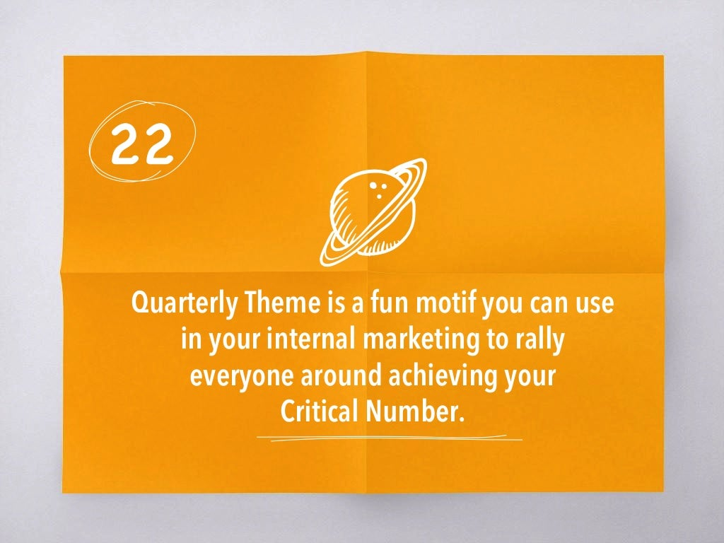 22 quarterly theme is a