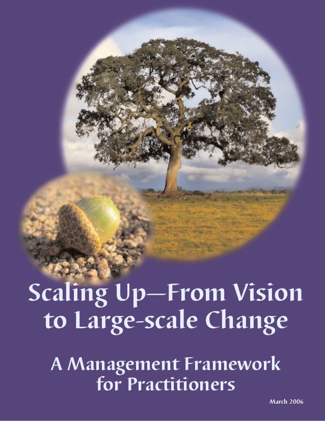 Scaling Up—From Vision to Large-scale Change A Management Framework     for Practitioners                     March 2006