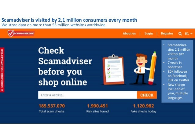 Scamadviser Integrity Engine to check reliability of online shops
