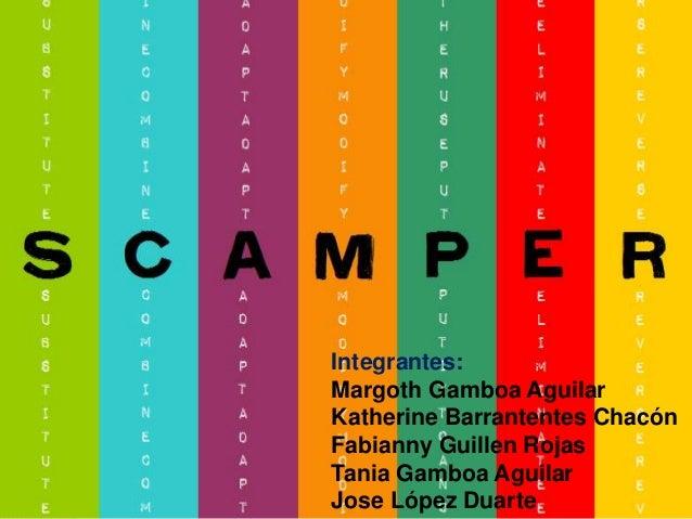 Integrantes: Margoth Gamboa Aguilar Katherine Barrantentes Chacón Fabianny Guillen Rojas Tania Gamboa Aguilar Jose López D...