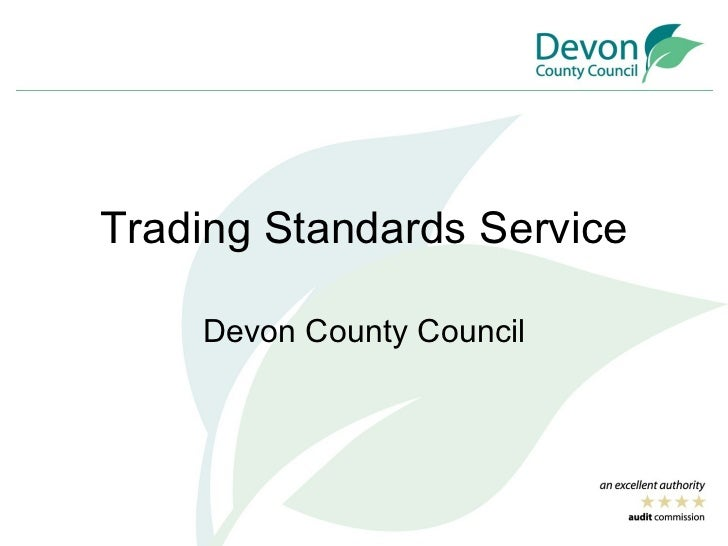 Trading Standards Service Devon County Council