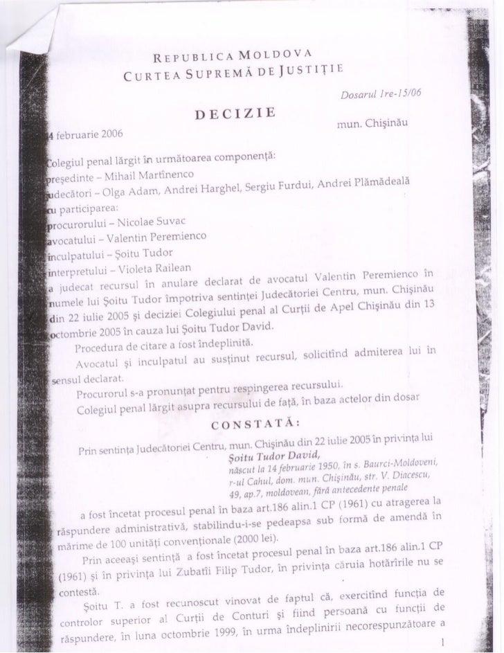 Decizia CSJ pe cazul Tudor Șoitu