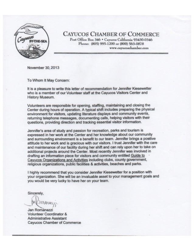 volunteer coordinator letter of recommendation bire 1andwap com