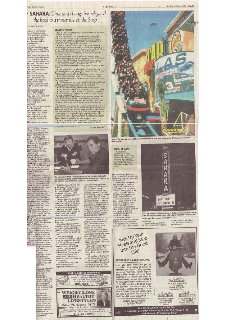 Las Vegass Review Journal - Sunday Oct 6th 2002 pt2