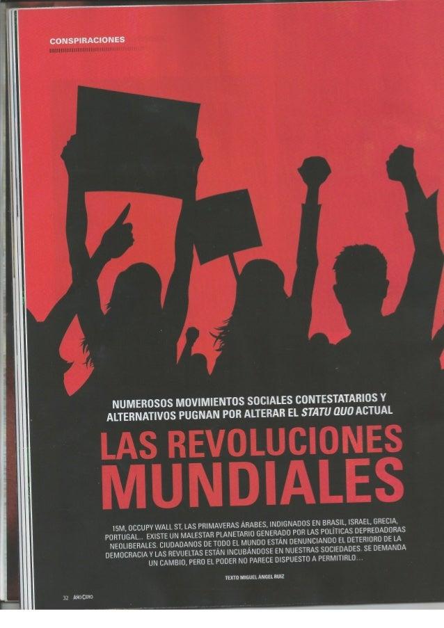 CONSPIRACIONES  NUMEROSOS MOVIMIENTOS SOCIALES CONTESTATARIOS Y ALTERNATIVOS PUGNAN POR ALTERAR EL STATU QUO ACTUAL  AS AR...