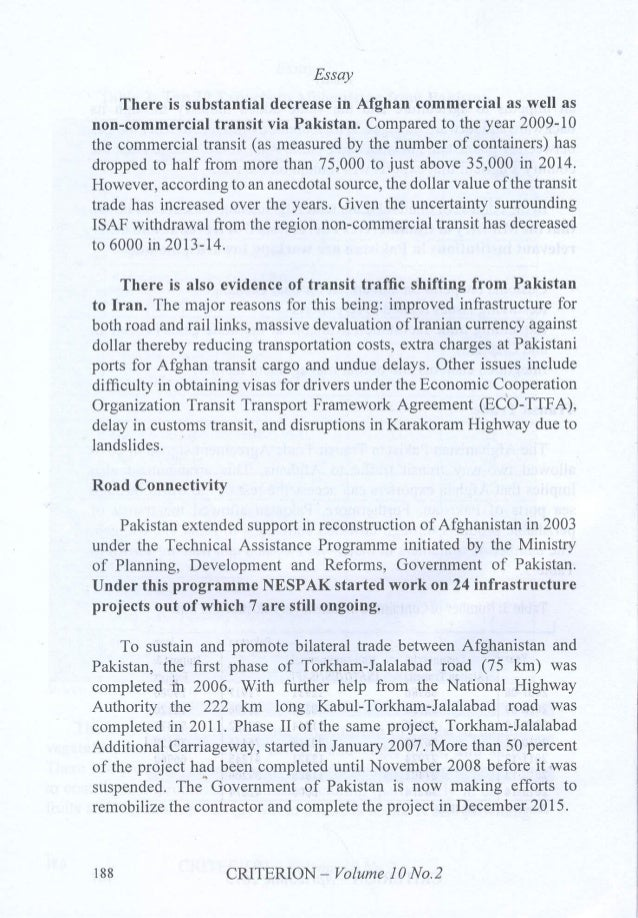 trade investment roadmap essay there is substantial decrease in afghan