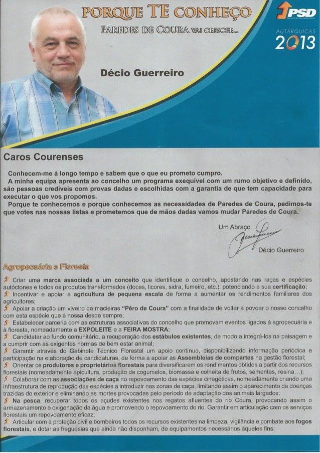 Programa eleitoral PSD Paredes de Coura 2013