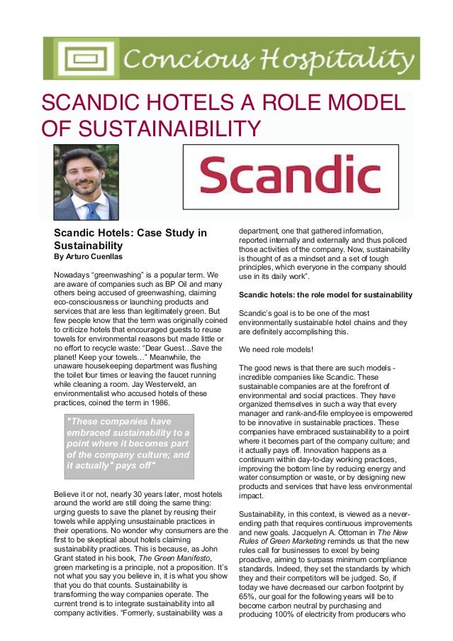 """Scandic Hotels: Case Study in Sustainability By Arturo Cuenllas Nowadays """"greenwashing"""" is a popular term. We are aware of..."""