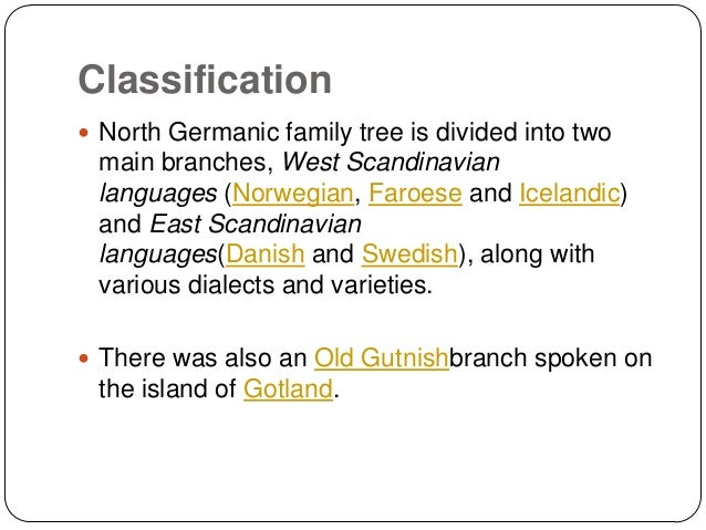 germanic group of languages