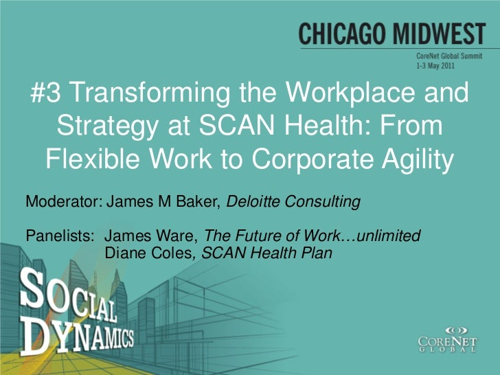 #3 Transforming the Workplace and  Strategy at SCAN Health: From Flexible Work to Corporate AgilityModerator: James M Bake...