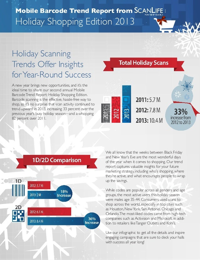 Mobile Barcode Trend Report from  :  Holiday Shopping Edition 2013 Holiday Scanning Trends Offer Insights for Year-Round S...