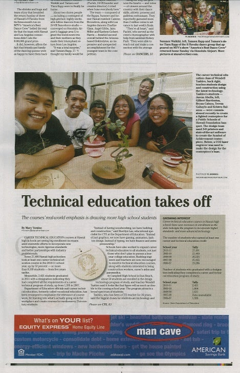 Technical education takes off