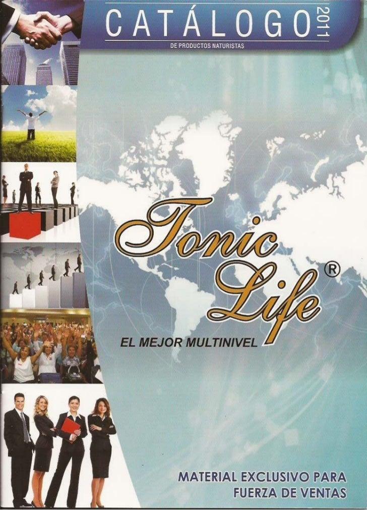 Catalogo Tonic Life 2011