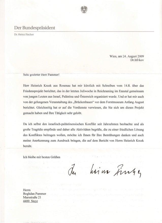 Der BundespräsidentDr. Heinz Fischer                                                                           Wien, am 24...