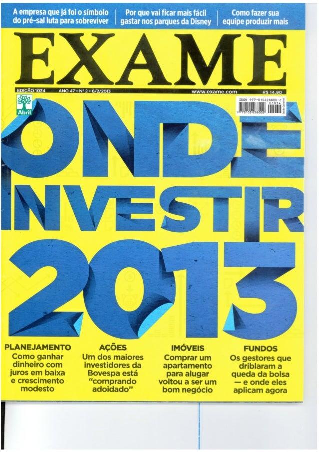 Onde Investir em 2013