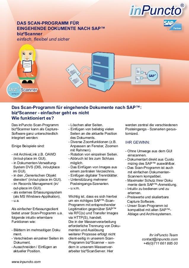 Das inPuncto Scan-Programm biz²Scanner kann als Capture- Software ganz unterschiedlich integriert werden: Einige Beispiele...