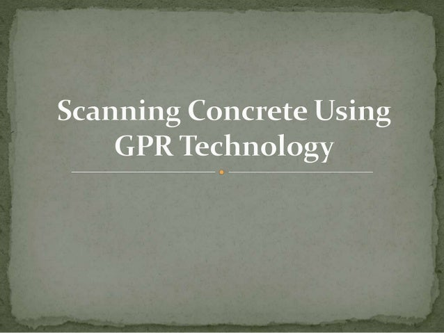 GPR, or ground penetrating radar, is a technology used by those in the geophysical profession to send radar pulses through...