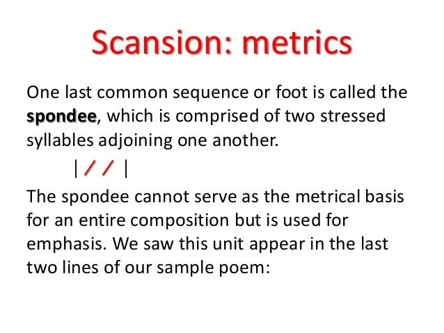shakespeare scansion In case you've never had the absolute basics on how to scan (if you know how and want to know more about how to use the scansion shakespeare liked to mess.