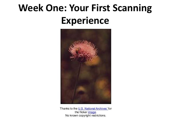 Week One: Your First Scanning Experience<br />Thanks to the U.S. National Archives' for the flicker image.No known copyrig...