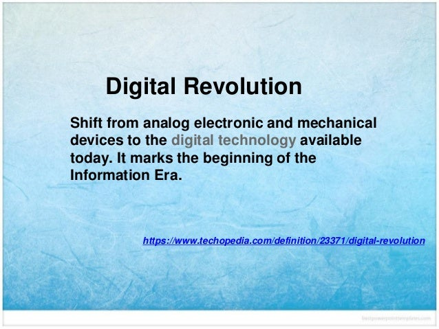 impact of digital revolution on society