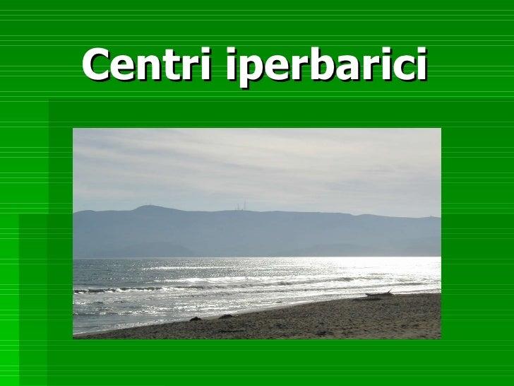 Centri iperbarici