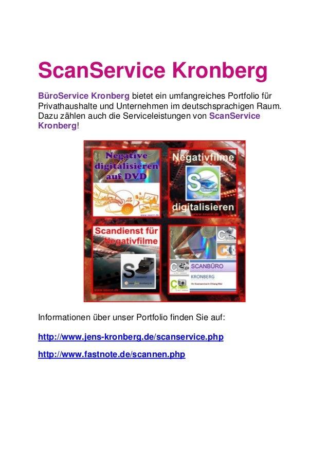 ScanService Kronberg BüroService Kronberg bietet ein umfangreiches Portfolio für Privathaushalte und Unternehmen im deutsc...