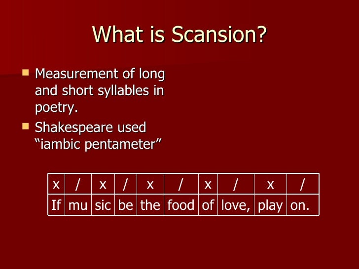 Scansion Overview