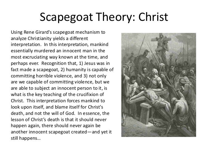 Scapegoat theory & Christianity
