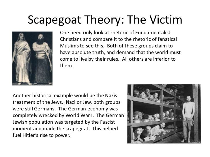 """traditions of scapegoating found in Jews scapegoating blacks: a long history of hate who said that the minister is """"continually scapegoating the jewish people found that the system."""
