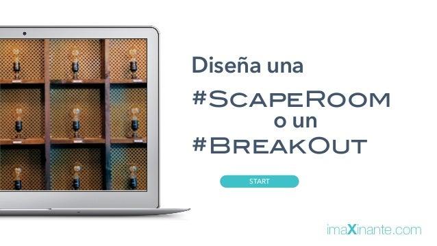 START Diseña una #ScapeRoom o un #BreakOut imaXinante.com