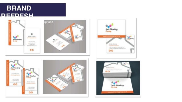 BRAND REFRESH Presenting Business Card Options