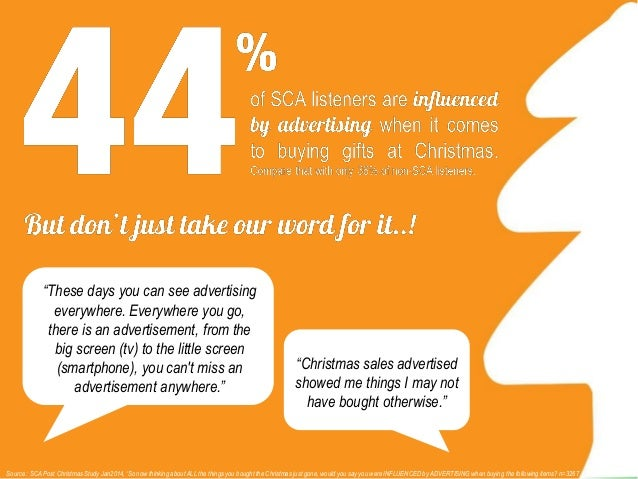 Source : SCA Post Christmas Study Jan2014, 'So you said that you did some of your Christmas shopping online. A little more...