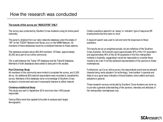 SCA Research Christmas Insights 2014