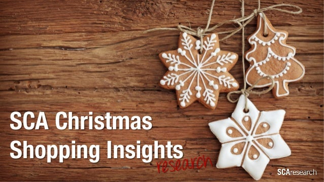 SCA Christmas Shopping Insights