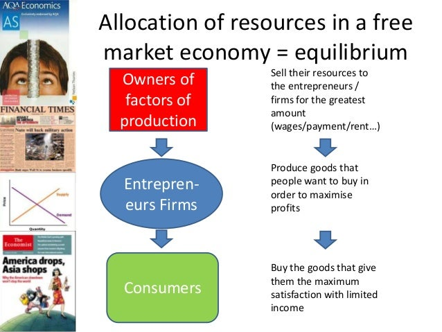 """explain the role of prices in allocating resources in market economy Topic 4: """"show how prices affect the allocation of resources and coordinate a decentralized economy"""" reference: gregory mankiw's principles of microeconomics, 2nd edition, chapter 4 how markets allocate resources one important result of the supply and demand model (see notes for micro topic 3) is that consumer."""