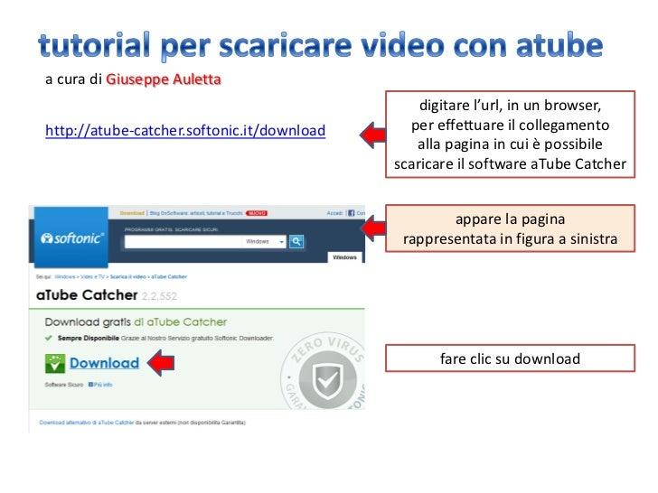 a cura di Giuseppe Auletta                                                digitare l'url, in un browser,http://atube-catch...