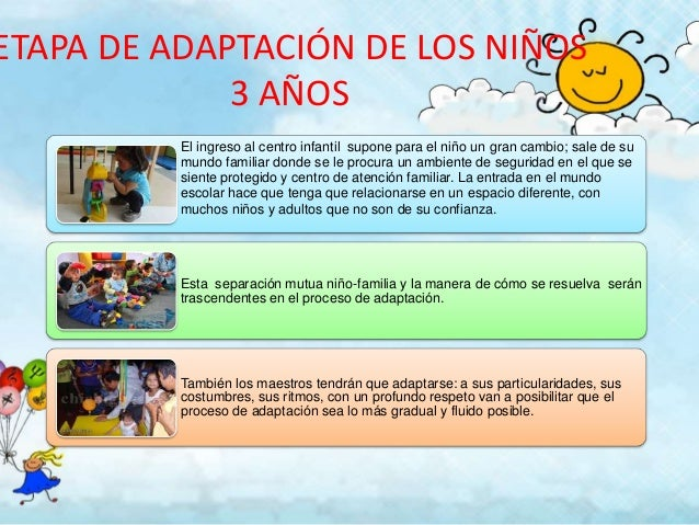 Etapa de adaptacion de 2 a 3 a os for Adaptacion jardin infantil