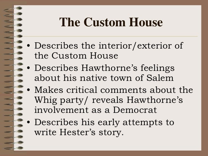 Hawthorne - the custom house essay