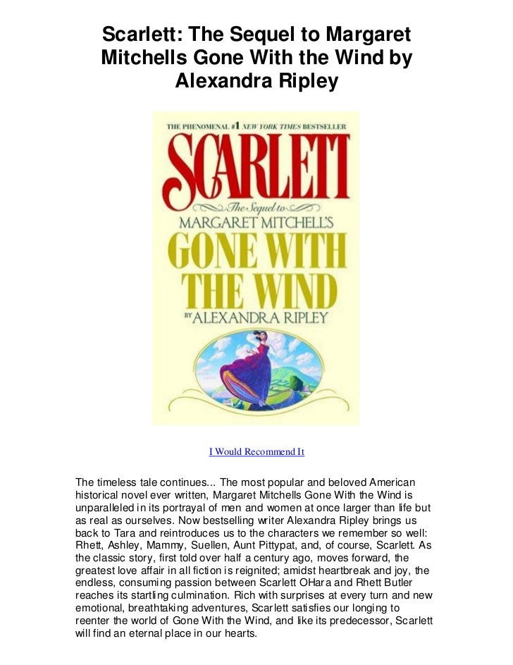 a review of scarlett by alexandra ripley